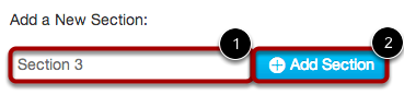 Add Section to Course