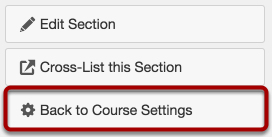 Return to Course Settings