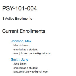 View Section Enrollments