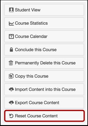 Reset Course Content
