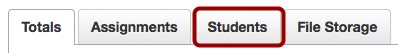 Open Students Tab