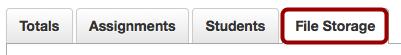 Open File Storage Tab