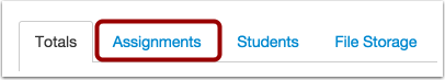 Open Assignments Tab