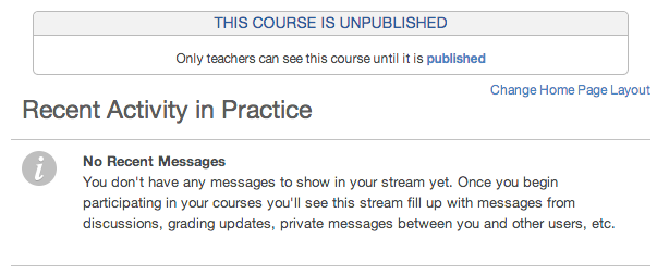 View an Unpublished Course