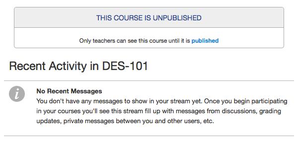 View Unpublished Course