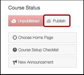 Publish Course