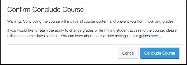 Concluding a Course