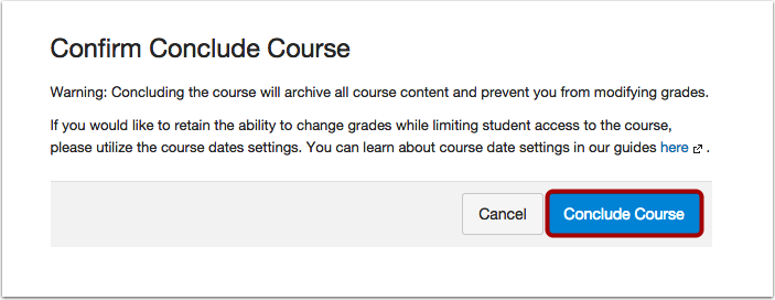 Conclude Course