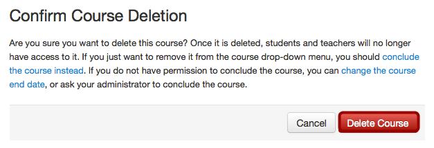 Delete Course