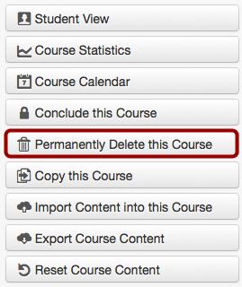 Delete the Course