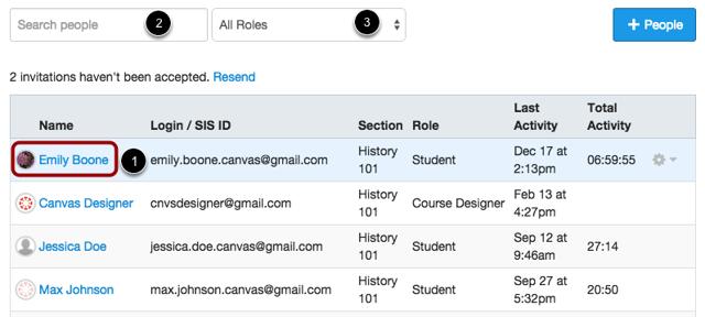 Open Student Details