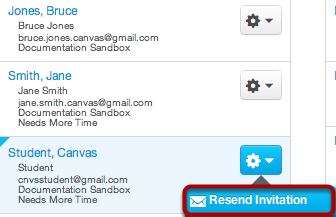 Click Resend Invitation