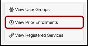 View Prior Enrollments