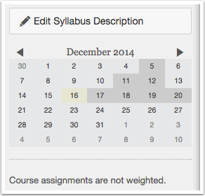 View Syllabus and Calendar