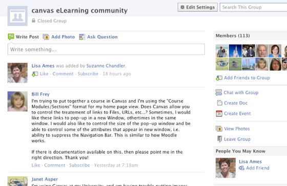 Facebook Canvas eLearning Community (Unofficial)