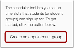 Create an Appointment Group