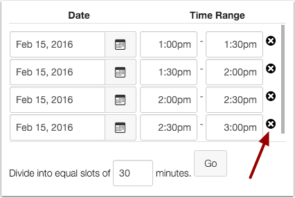 Modify Appointment Times