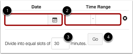 Set Appointment Time Range
