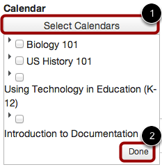 Select the Appointment Calendar