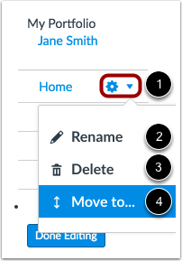 View Section Settings
