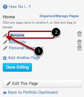 Edit Page Name