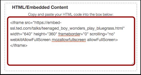 Edit Content Box