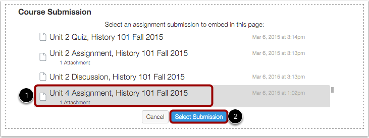 Select Assignment