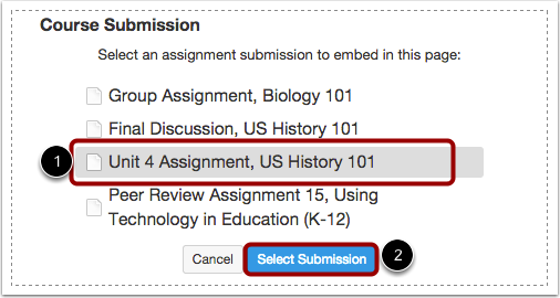 Select the Assignment