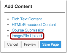 Add Image or File