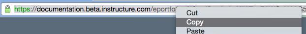 Option 2: Copy Link in Address Bar