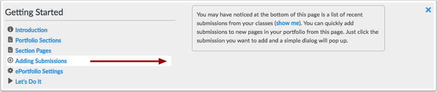 View Adding Submissions