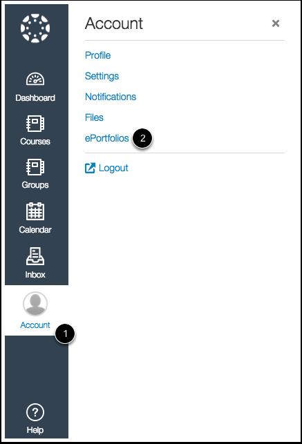 Open ePortfolios in New Canvas UI