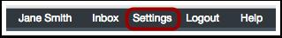 Open User Settings
