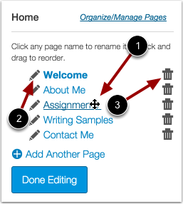 Manage Pages