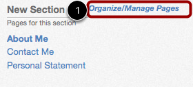 Organize/Manage Pages