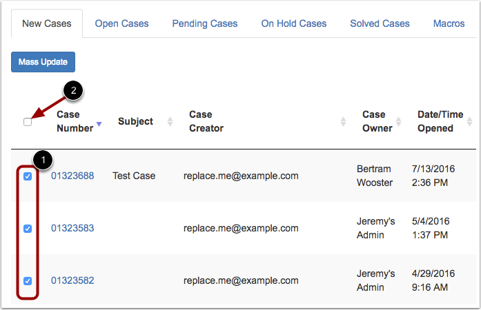 Select Cases