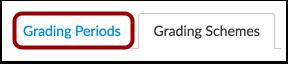 Open Grading Periods