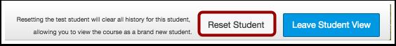Reset Test Student