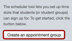 Create Appointment Group