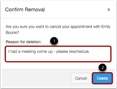 Confirm Removal