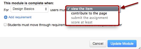 Set Action Requirements