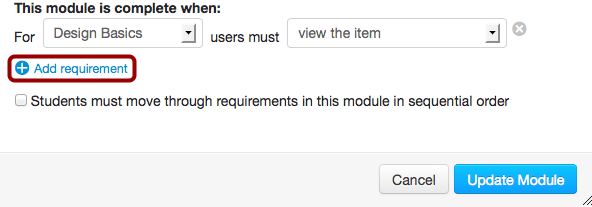 Add Additional Requirements