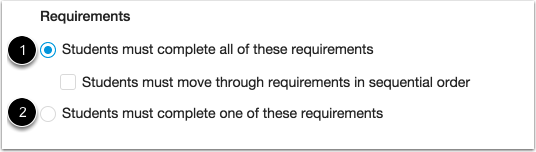 Select Requirement Type