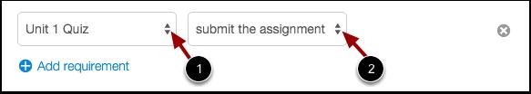 Set Item Requirements