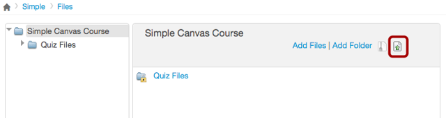 Upload Course Files