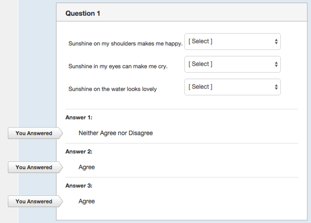 Student View for Responses