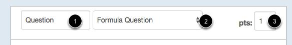 Select Formula Question Type