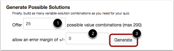 Set Possible Number of Solutions