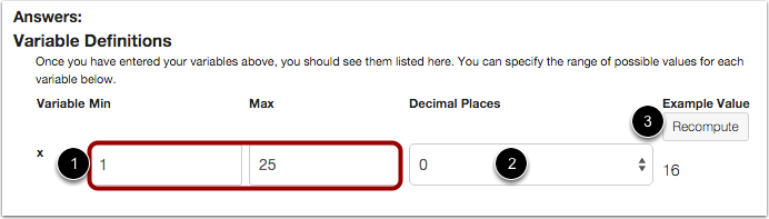Set Variable Definitions