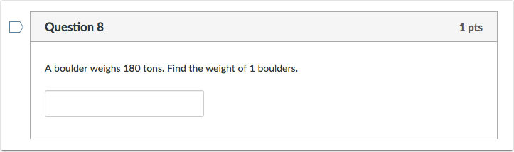 Student View for Formula Question